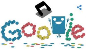 Google Doodle of a hole punch, seriously.